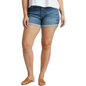NWT Silver Jeans Mid-Rise Boyfriend Denim Shorts